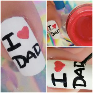 Father's Day nail art
