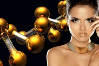 Repair damaged skin with Gold Micro particles