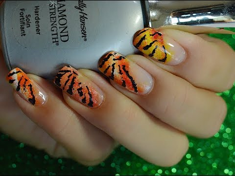 Easy Tiger Nail Art Design For Beginners Health Glow