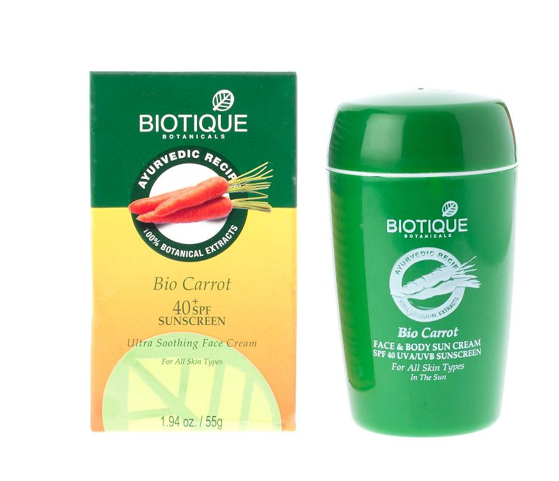 Biotique Bio Carrot Ultra Soothing Face & Body Cream SPF 40 50gm