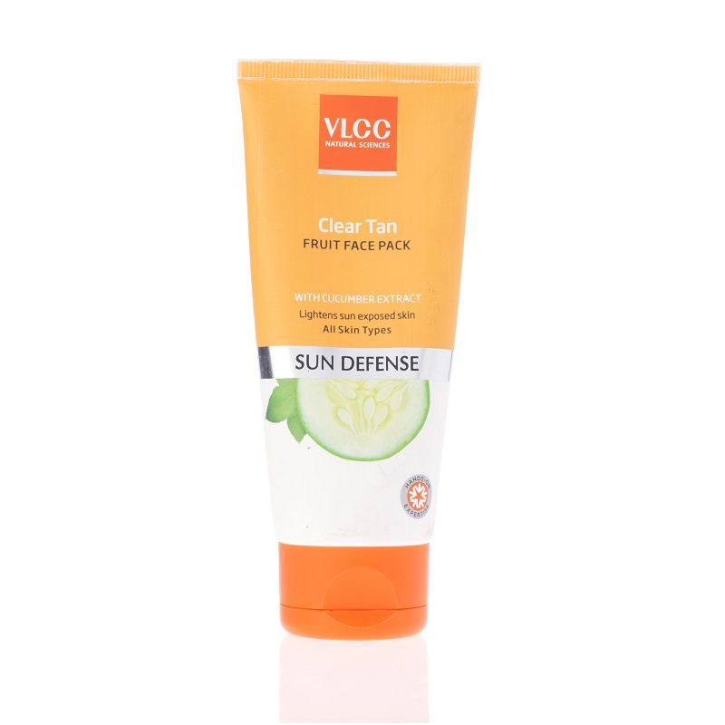 Vlcc Sun Defence Clear Tan Fruit Face Pack With Cucumber Extracts 100gm