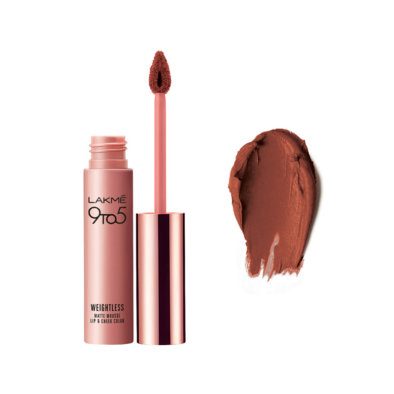 Lakme 9 To 5 Weightless Matte Mousse Lip & Cheek Color Cocoa Soft 9gm