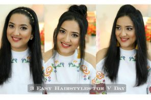 3 Easy Hairstyles For Valentine's Day