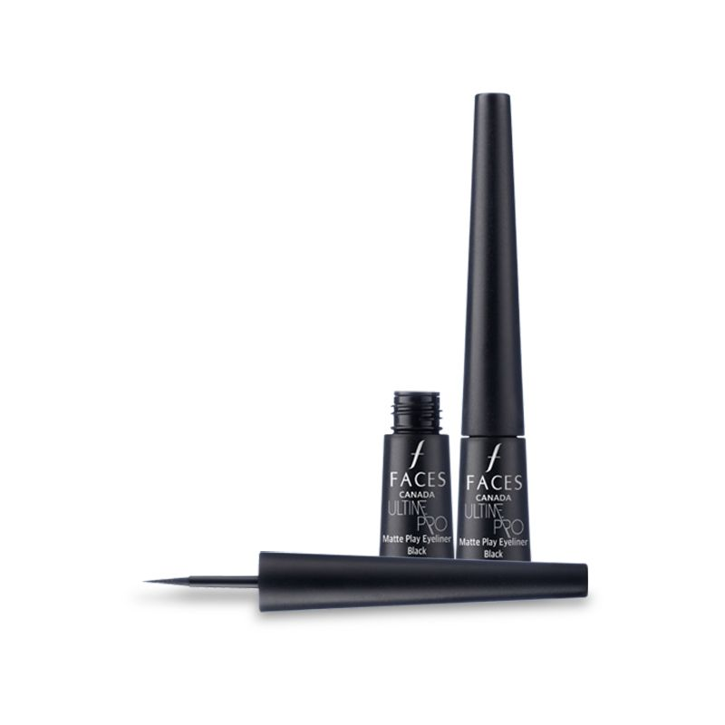 Faces Ultime Pro Matte Play Eyeliner Black 01