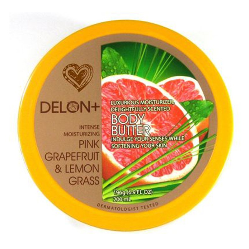 Delon Body Butter With Pink Grapefruit & Lemon Grass 200ml