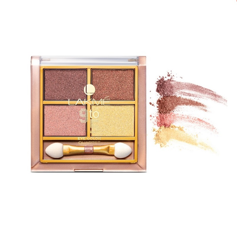 Lakme 9 to 5 Eye Color Quartet Eyeshadow Desert Rose