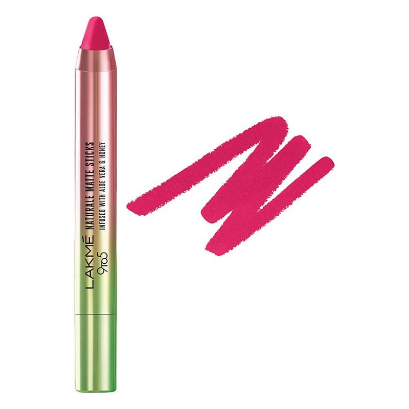 Lakmé 9 To 5 Naturale Matte Sticks Lipstick Fuchsia Alley