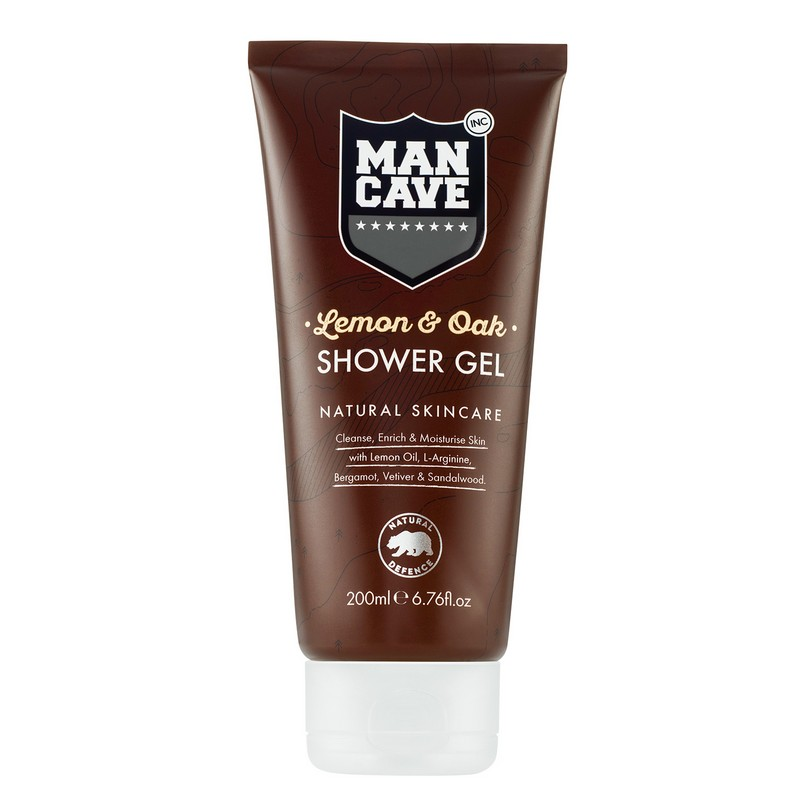 ManCave Lemon & Oak Shower Gel For Men 200ml