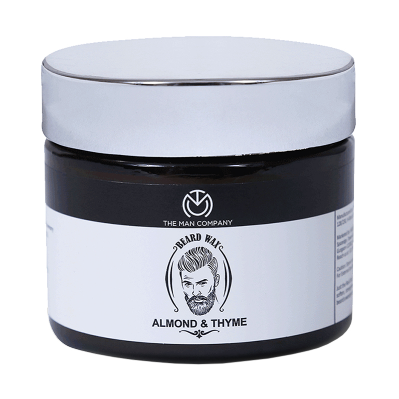 The Man Company Beard Wax Almond & Thyme 50gm