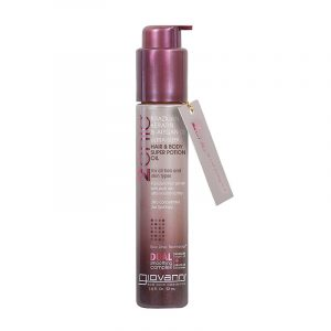 Giovanni 2chic Ultra-Sleek Hair & Body Super Potion Oil With Brazilian Keratin & Argan Oil