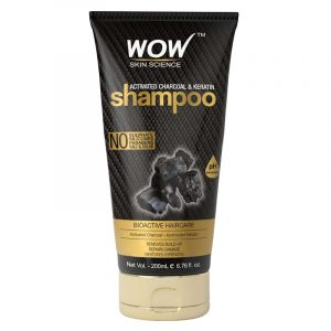 WOW Activated Charcoal & Keratin Shampoo