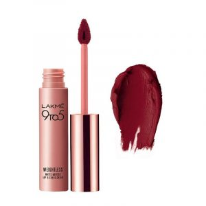 Lakme 9 to 5 Weightless Lip & Cheek Color Rosy Plum