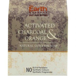 The Earth Reserve Charcoal and Orange Soap