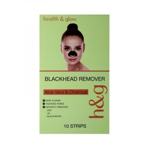 Health & Glow Aloevera Charcoal Blackhead Remover Nose Strip Pack Of 10